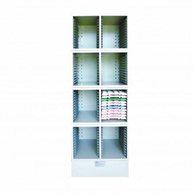 Шкаф с четырьмя стеллажами для хранения штативов для сушки предметных стекол KD-104