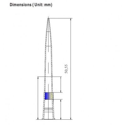 Наконечники для дозаторов  200 мкл, без фильтра, с фаской, DNAse-RNAse-Free, Low Retention, стерильные, в пакете