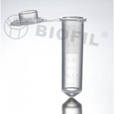 Микропробирка 2 мл, защелкивающаяся крышка, с градуировкой и полем для записи, круглое дно, DNAse-RNAse-Free, стерильная, РР