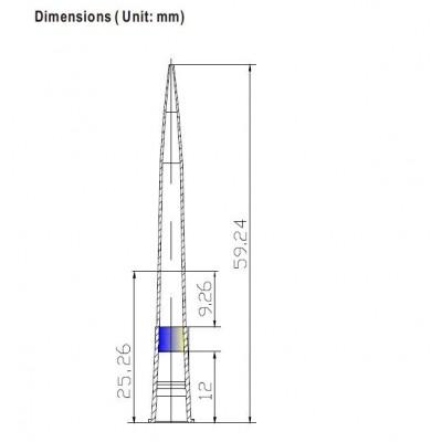 Наконечники для дозаторов 10-200 мкл, без фильтра, DNAse-RNAse-Free, нестерильные, в пакете