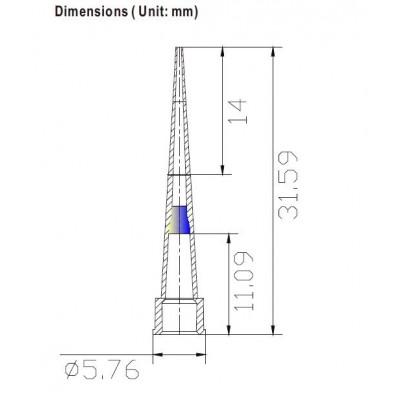 Наконечники для дозаторов 0,1-10 мкл без фильтра, DNAse-RNAse-Free, стерильные, в штативе