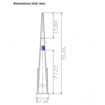 Наконечники для дозаторов 0,1-20 мкл, с фильтром, DNAse-RNAse-Free, нестерильные, в пакете