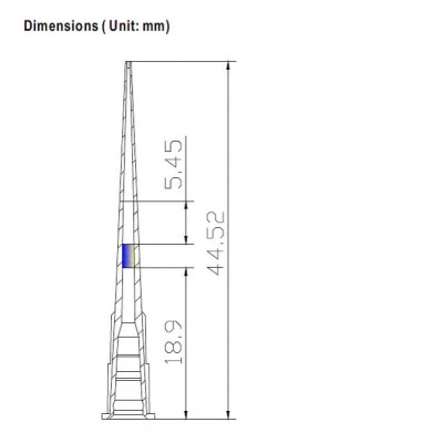 Наконечники для дозаторов 0,1-10 мкл, удлиненные без фильтра, Dnase/Rnase-free, стерильные, в штативе, апирогенные